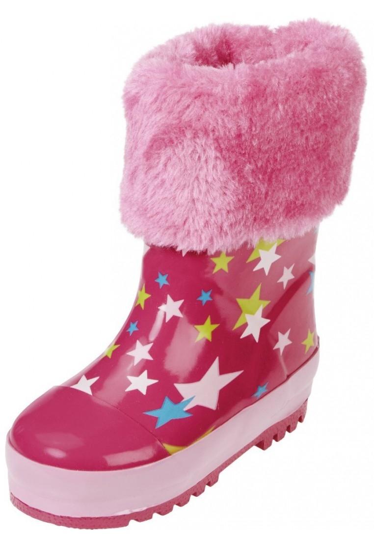 Roze met sterren gevoerde laarzen van Playshoes (Maat 3435