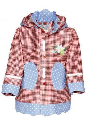 Playshoes regenjas country style rood/blauw