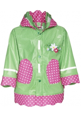 Playshoes regenjas country style groen/roze